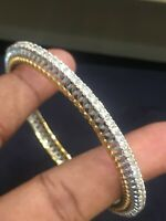 Pave 5,60 Cts Rund Brilliant Cut Diamanten Armreif Bracelet In 585 Fein 14K Gold