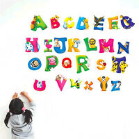A-Z 26 Alphabet letters Wall Sticker Decal Vinyl Kids Bedroom Home Decoration 0ナ