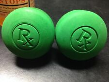 """RX Toe Stop's Green For Quad roller Skates (Pair) 5/8"""" shaft"""