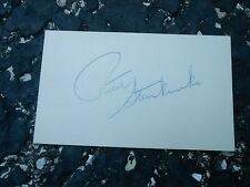 #MISC-3376 - 3x5 index card - signed auto - HOCKEY - PETER STEMKOWSKI