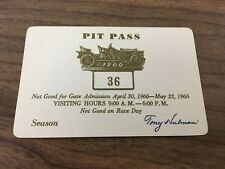 1966 Indianapolis 500 Pit Pass (May Season)