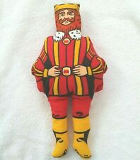 """Burger King Plush King Doll 14"""" From 1970s"""