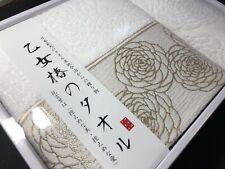 Japanese Imabari bath & wash towel set (flower camellia pattern)