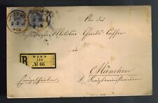 1893 Vienna Austria to Munich Germany Registered Postal History Cover