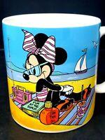 Vintage Walt Disney Minnie Mouse At The Beach Coffee Tea Mug Cup 1986