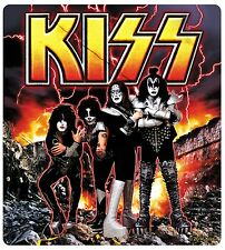 Sticker Kiss Destroyer Album Scene & Band Members Pose Rock Metal Music Decal