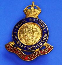 More details for royal national lifeboat institution rnli pin badge kc circa 1940's [22488]