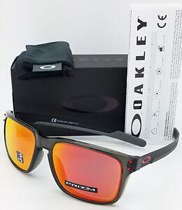 NEW Oakley Holbrook Mix sunglasses Grey Smoke Prizm Ruby 9385-04 AUTHENTIC Asian