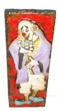 Ruscha Clown Fat Lava German Space Age Pop Art Psychedelic Wall Tile plaque
