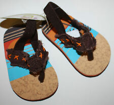 Circo Infant Boys Flip Flops with Sunset Shoes Size 2 or 3-6 months NWT