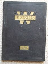 1929 SAINT WENDELIN HIGH SCHOOL YEAR BOOK FOSTORIA, OHIO   THE FROSLIN