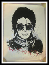 MR BRAINWASH MICHAEL JACKSON KING OF POP S/N SCREEN PRINT MBW SOLD OUT & RARE!