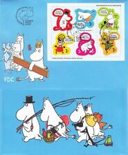 Moomin Favourites Tove Jansson Characters Sheet Finland FDC 2013