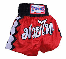 Boxing Shorts Thai Muay Thai Twins Zig Zag Polyester Satin