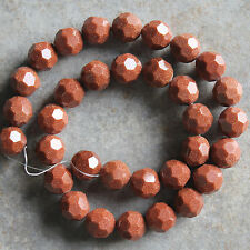 "12mm Faceted Round Goldstone Loose Beads 15.5"" strand"