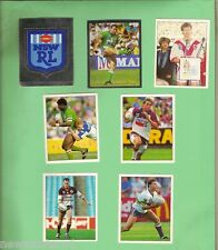 1994 SELECT RUGBY LEAGUE  STICKERS #1 to #7, NSWRL LOGO  & STARS OF 1993