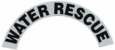 WATER RESCUE Highly Reflective FIRE HELMET CRESCENT DECALS  -  A PAIR