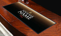 Personalised Real Ale Black Bar Towel Runner Pub Mat Beer Cocktail Party Gift
