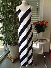 H&M Kleid Maxikleid Strandkleid weiß.dunkelblau Gr. S 36 38
