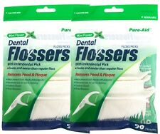 180 Mint Flavor Dental Flossers Interdental Pick Floss Picks Teeth Gum Cleaner