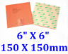 """6"""" X 6"""" 150 X 150mm 12V 120W CE UL JSRGO Universal Silicone Heater Warm up Pad"""