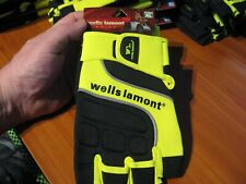 Wells Lamont Grip Half Finger Hand Tool Equipment Driving Gloves A841YXL Size XL