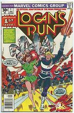LOGAN'S RUN #1 Jan 1977 VF/NM 9.0 MARVEL Comics PREMIERE Issue PEREZ Art B/O