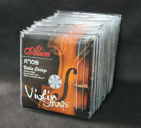 10 Sets Alice A705 Stainless Steel Nickel Chromium Wound 4/4-1/8 Violin Strings