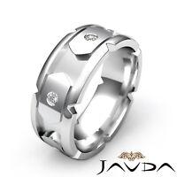 0.40 Ct. 2 Two Tone Gold Round Diamond  Ring 8.5mm Men's Eternity Wedding Band