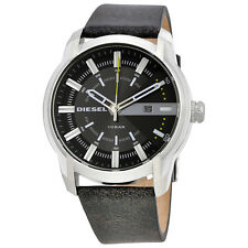 Diesel Armbar Grey Dial Mens Learther Watch DZ1782