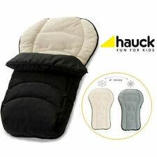 New HAUCK Infinity Fleece lined liner footmuff cosytoes in Black Beige