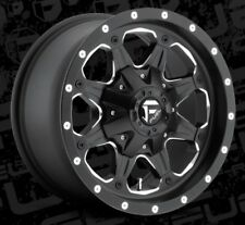 Fuel Boost D534 16x8 5x4.5/5x5 ET1 Black Rims (Set of 4)