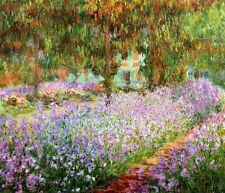 "Claude Monet Irises in Monet's Garden Handmade Oil Painting repro 20""x24"""