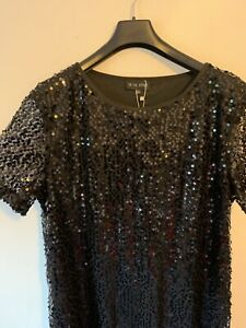BNWT In the Style Black Sequin Dress - Size 18