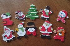 10 assorted Christmas Craft Embellishments. Scrap booking xmas, Santa
