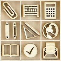 4xeach letter LDB1106 Kaisercraft Chipboard LD Wooden Alphabet Set