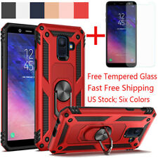 For Samsung Galaxy J4/J6 Plus A6 2018 Shockproof Magnetic Ring Stand Armor Case