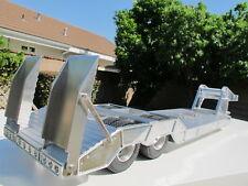 Aluminum Gooseneck Lowboy Rider Trailer for Tamiya RC Toy 1/14 King Grand Hauler