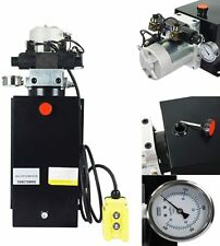 16 Quart Double Acting Hydraulic Pump DC12V Power Unit Dump Trailer Lift
