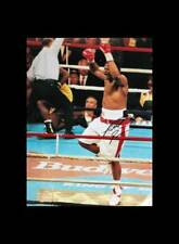 """RIDDICK """"BIG DADDY"""" BOWE SIGNED 16""""x12"""" BOXING PHOTOGRAPH v HOLYFIELD PROOF + CO"""
