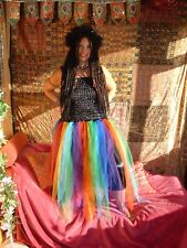 Adult rainbow fairy dress fancy dress dressing up costume festival One Size