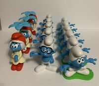 Smurf Lot Of 15 Peyo Burger King Willow Smurfette Hefty Brainy Figures