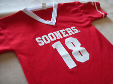 OKLAHOMA SOONERS OU FOOTBALL JERSEY SHIRT  BOYS MEDIUM