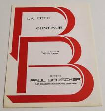 Partition sheet music EDITH PIAF : La Fête Continue * 50's MICHEL EMER