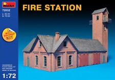 Miniart 1:72 Fire Station Building Model Kit