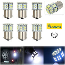 6X 1156 BA15S 50 SMD LED BLANCO BRILLANTE Bombilla de Luz Trasera de Freno 12V