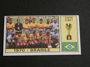 Brazil team 1970 world cup sticker panini Pele