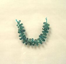 """BLUE GREEN KYANITE faceted drop briolette beads AA+ 6-8mm 3"""" strand"""