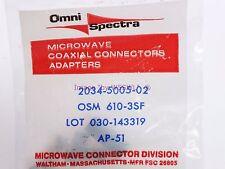 Omni Spectra 2034-5005-02 Bulkhead Feed Through - Sold by W5Swl