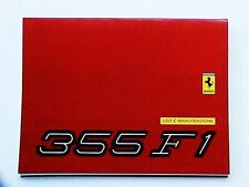 Ferrari 355 Owners Manual Use Maintenance Book_F1_1234/97 NEW OEM VERY NICE